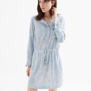 Lou & Grey women S blue pyramid shirt dress